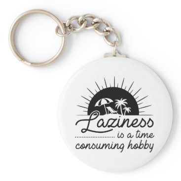 Beach Themed Laziness Keychain
