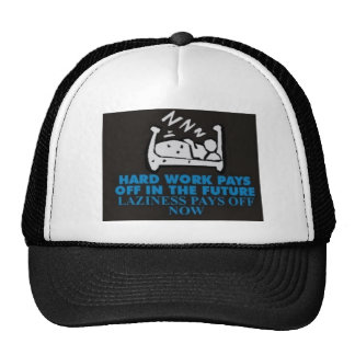 Laziness pays off now mesh hats