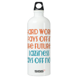 Laziness Pays Off Now Water Bottle