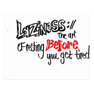 Laziness Postcard