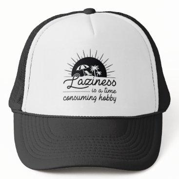 Beach Themed Laziness Trucker Hat