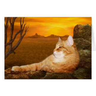 Lazing cat card