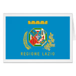 Lazio flag greeting card