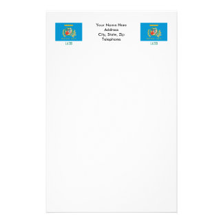 Lazio flag with name stationery
