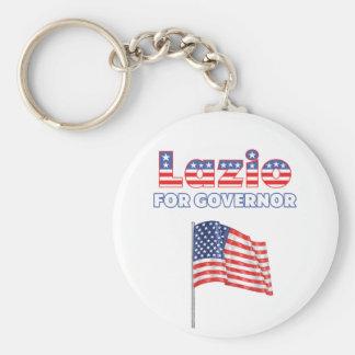 Lazio for Governor Patriotic American Flag Keychain