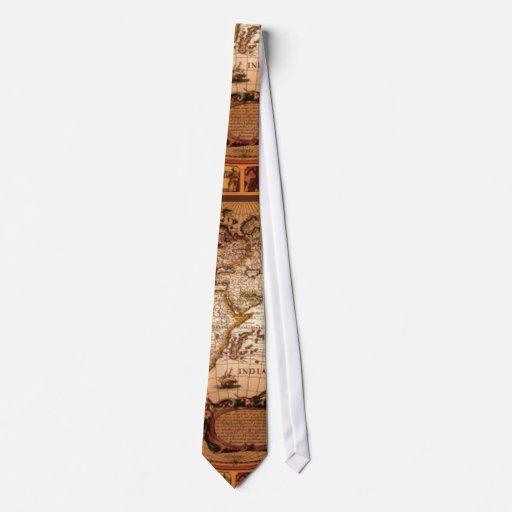 Lazo 1481 de la moda de los viejos del mapa del corbata personalizada