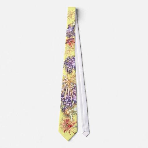 Lazo 4to del amarillo de los fuegos artificiales d corbatas personalizadas