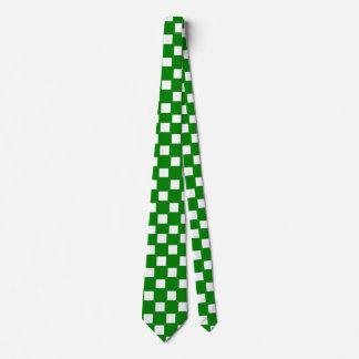 Lazo a cuadros verde y blanco corbata personalizada