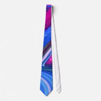 Lazo abstracto de los remolinos del rosa del azul corbata