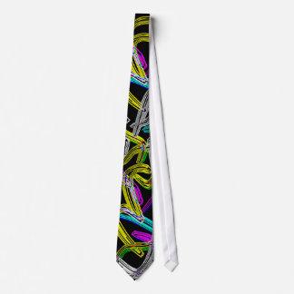 Lazo abstracto de neón corbata personalizada