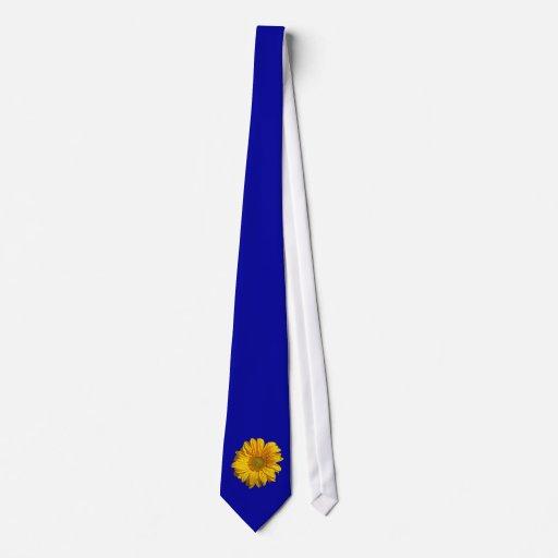 Lazo adaptable del girasol del fondo corbata personalizada