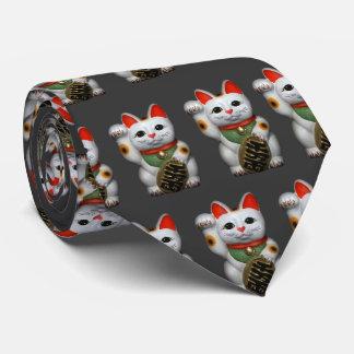 Lazo afortunado de los gatos corbata personalizada