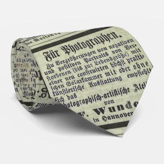 Lazo alemán del periódico del vintage corbata personalizada