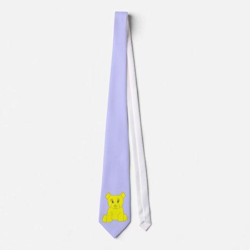 Lazo amarillo del oso corbata