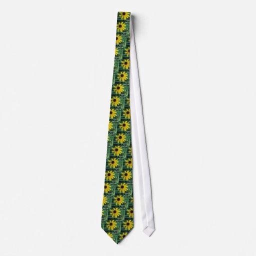 Lazo amarillo observado ennegrecido de la margarit corbata personalizada