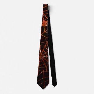 Lazo anaranjado chispeante de los Web de araña Corbatas Personalizadas