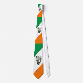 Lazo anaranjado de las diagonales del verde de la corbata personalizada