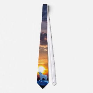 Lazo ártico blanco de la fauna del lobo y de la corbata personalizada