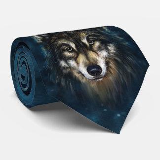 Lazo artístico de la cara del lobo corbatas