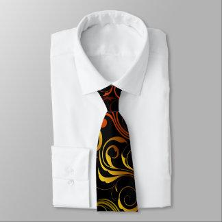 Lazo artístico de los remolinos del amarillo corbata