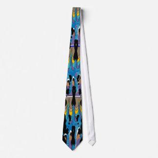 Lazo artsy de la mancha blanca /negra de Rorschach Corbata Personalizada