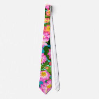 Lazo asiático de las flores de Lotus Corbata Personalizada