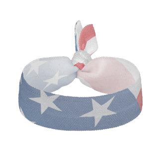 Lazo azul blanco rojo del pelo de la bandera goma de pelo