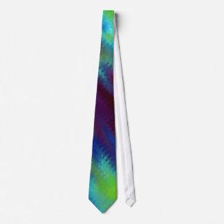 Lazo azul de la pintura de la lona de las tonalida corbata personalizada