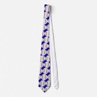 Lazo azul del béisbol corbatas