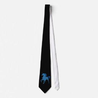 Lazo azul del unicornio del fuego corbata personalizada
