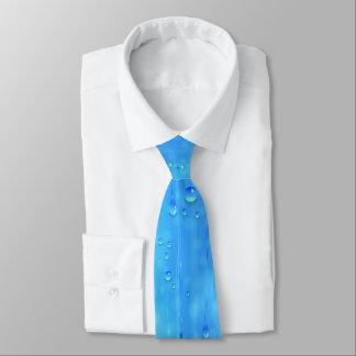 Lazo azul mojado corbata