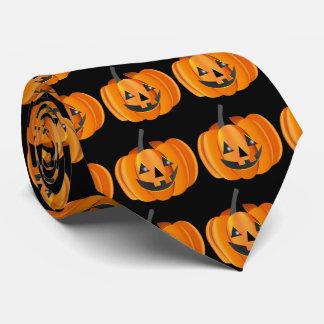 Lazo bilateral de la Jack-O-Linterna de Halloween Corbata