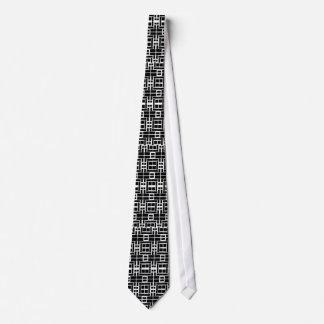 Lazo blanco con el modelo de las casillas negras y corbata personalizada