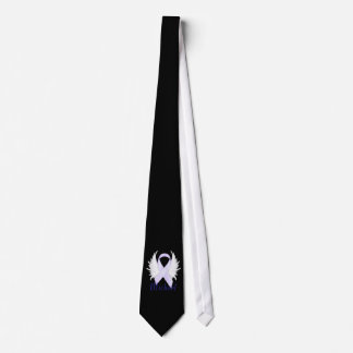 Lazo blanco de las alas del ángel de la cinta corbata personalizada