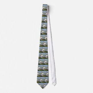 Lazo blanco de los cisnes corbatas personalizadas