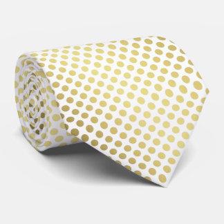 Lazo blanco de oro de los lunares de la pendiente corbatas personalizadas