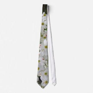Lazo blanco del ~ del Dogwood Corbata Personalizada