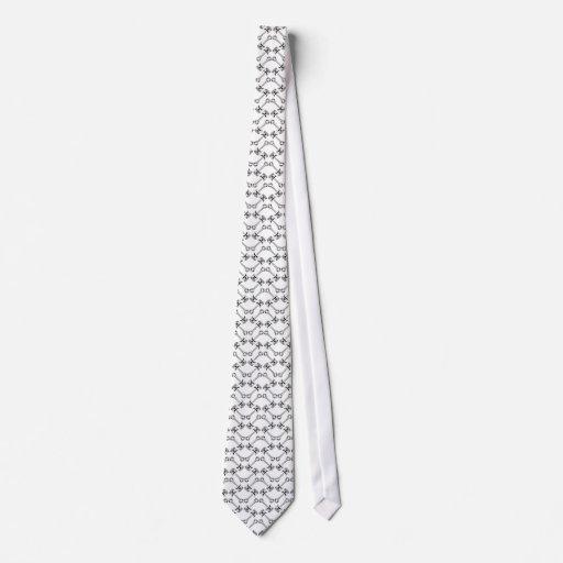 Lazo blanco del pistón corbatas