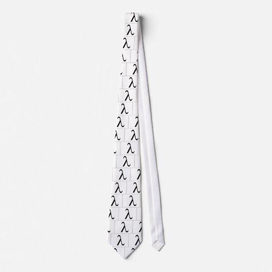 Lazo (blanco) del símbolo de la lambda corbata