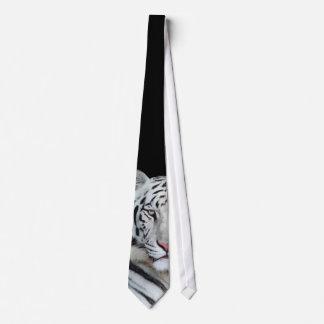 Lazo blanco del tigre corbatas personalizadas