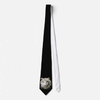 Lazo blanco del tigre de Bengala Corbata Personalizada