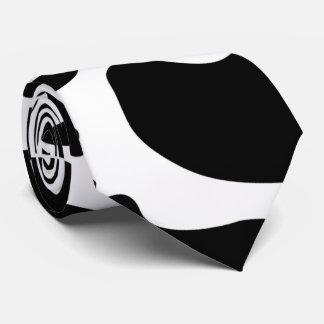 Lazo blanco y negro bilateral del modelo de la corbata personalizada