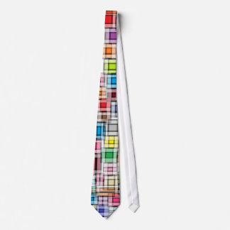 Lazo borroso de los cuadrados corbata personalizada