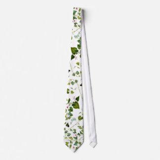 Lazo botánico de la vid floral de las hojas de la corbatas personalizadas