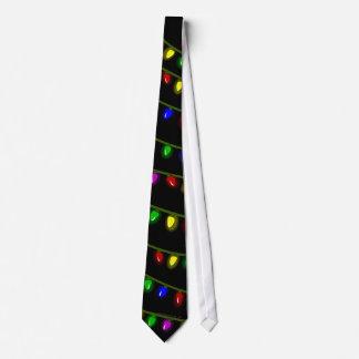 Lazo caprichoso de las luces de navidad que brilla corbatas