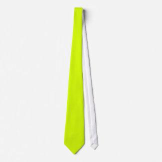 Lazo chartreuse de neón de la visibilidad amarilla corbatas personalizadas