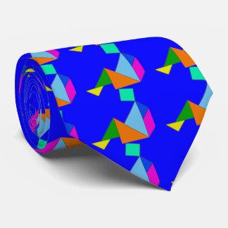 Lazo chino azul del rompecabezas chino corbata