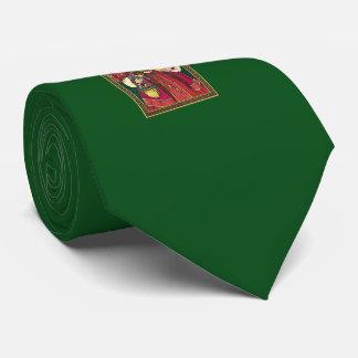 Lazo clásico del verde de San Nicolás Corbata Personalizada