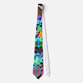 Lazo colorido de los círculos corbata personalizada