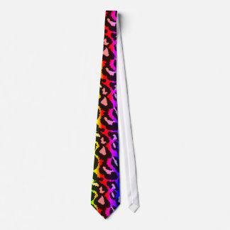 Lazo colorido enrrollado del arco iris del estampa corbata personalizada